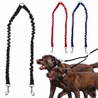 entrenamiento de cuerda elástica al por mayor-Doble Correa de perro Elástico Bungee Mascota Parejas Tracción Cuerda Gemelos Perros Correas Mascotas Entrenamiento Tracción