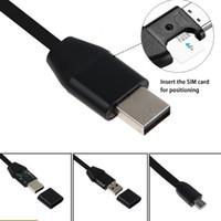 kablo takibi toptan satış-GPS Izci Şarj Kablosu Araç Araba Takip Cihazı Mikro USB Kablosu Gerçek Zamanlı GSM / GPRS Takip Araba GPS Tracker USB Şarj