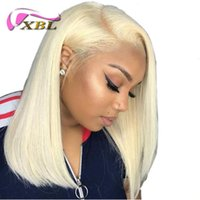 Wholesale blonde short hair wig for sale - Group buy XBLHair wigs for women blonde Lace Front Wigs Natural Straight Brazilian Human Hair Short Bob Wig Lace Frontal Wigs