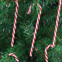 ingrosso albero di vacanza acrilico-Vendita calda acrilico canna albero di natale ciondolo decorativo piccolo bastone festivo vacanza decorazione di natale spedizione gratuita