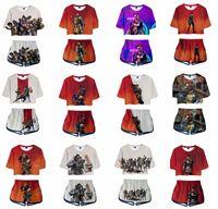 conjuntos de ropa par al por mayor-Apex Legends Boys trajes para niñas chaleco sin mangas impresos en 3D + pantalón corto caliente 2pcs / set conjunto de ropa de diseñador para adultos amantes traje de verano