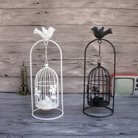 Wholesale aroma holders for sale - Group buy Creative mental birdcage candle holders vintage candle stick holder Iron candlestick holder for wedding home decors Pastoral Aroma Lamps