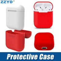 auricular bluetooth al por mayor-ZZYD para Apple Airpods Funda de silicona Cubierta protectora suave y delgada para cápsulas de aire Auricular Funda para teléfono celular