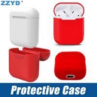 couverture souple de téléphone portable achat en gros de-ZZYD Pour Apple Airpods Housse En Silicone Souple Mince Protecteur Couverture pour Air pods Écouteur Cas de Téléphone portable