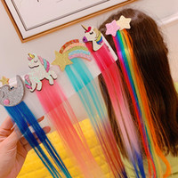 Wholesale pony braiding hair resale online - 20191109 Sequin star moon pony colorful children s hair braid