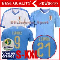 camisetas de fútbol de uruguay al por mayor-2019 Uruguay Soccer Jerseys C.STUANI 19 20 D.GODIN Uruguay L.SUAREZ Camiseta de fútbol DE ARRASCAETA E.CAVANI Camiseta de fútbol