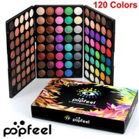 Wholesale nude eye shadow kits for sale - Group buy Popfeel Eye shadow Palette Colors makeup Eyeshadow Palette Nude Eye Shadow Kit Matte Shimmer Eyeshadow Smoky Palette Brand Cosmetics