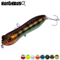 Wholesale big top water lures for sale - Group buy Hunthouse pencil lure top water freshwater fishing lure mm g big rattle ball loud noise VMC hook for bass pike