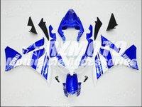 ingrosso belle versioni-Nuovi kit carenatura completa ABS di qualità OEM adatti per YAMAHA YZF1000 12 13 14 2012 2013 2014 R1 Set di carrozzeria Personalizzati Cool Blue White Nice
