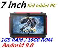 16gb allwin tablet toptan satış-Bluetooth wifi ile 2019 çocuk Tablet PC Q98 Dört Çekirdekli 7 inç ekran Android 9.0 AllWinner A50 gerçek 1GB RAM 16GB Q8