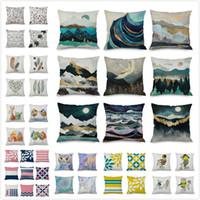 Wholesale animal hospital resale online - 168 Designs Colorful Pillowcase Cartoon Plant Animal Geometric Pillow Cover Home Sofa Car Decor cm Throw Pillow Case