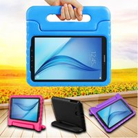 kinder rosa tabletten großhandel-Samsung-Tablette-Kasten für Kinder Stoß- Leichtgewichtler EVA Convertible Griff Standplatz-Abdeckung iPad Case