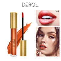 Wholesale orange brown lipstick resale online - New DEROL Lipstick Matte Waterproof Velvet Lip Stick Colors Sexy Red Brown Pigments Makeup Matte Lipsticks Beauty Lips L3703