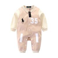 bebé mandarín al por mayor-Los mamelucos de los niños más vendidos, los bebés varones y las niñas colocan el mono cálido de algodón, la ropa de los niños ropa de bebé.