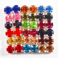 шить кристальные драгоценные камни оптовых-288pcs/pack SS12 Super shiny Crystal glass Rhinestone Single claw sew on Gems, Use for Nail art & Clothing Accessories