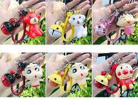 pendentif porte-clés panda achat en gros de-Nouveau porte-clés dessin animé mignon poupée panda porte-clés hommes et femmes créatifs tressés corde pendentif sac de chaîne