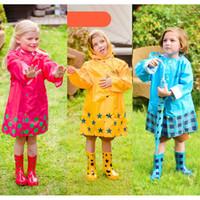 Wholesale girls cute raincoats resale online - Kids Raincoat Rainshoes Girls Poncho Kids Umbrella Boy Skid proof Rain Boots Wear resistant Boots Hooded Raincoats for Schoolbag Rain gear