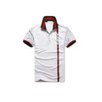 camisas de diseño masculino al por mayor-2019Hot Sales Shirt Luxury Design Male Summer Turn-Down Collar de manga corta Camisa de algodón Hombres Top