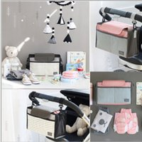 Wholesale baby diaper bags sale for sale - Group buy 2019 Hot Sale Multifunctional Mummy Bag Diaper Bags Baby Diaper Nappy Polyester Stroller Striped Hanging Bag Convenience