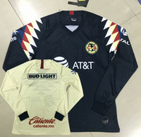 Wholesale long sleeve mx jerseys resale online - Liga MX Club America long sleeve Soccer Jerseys MATEUS O LAINEZ R MARTINEZ home away football full shirt S XL