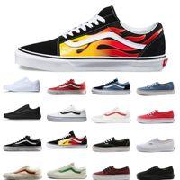 Wholesale authentic flat shoe canvas resale online - Casual shoe VANS Old Skool Authentic Canvas Skate Shoes Designer Mens Women Running shoes for men trainer Sport Sneakers