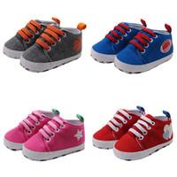 sapatas de lona do bebê infantil venda por atacado-Baby Boy sapatas de lona Outono criança sapatos de moda da criança Primeiros caminhantes Crianças Meninas