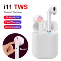 Wholesale samsung window for sale - Group buy i11 TWS Wireless Bluetooth Headphones Earbuds with pop up window Twins Mini Earbuds for iPhone X IOS Android i11 touch SIRI blue box