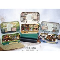 Wholesale 3d assembling diy house doll resale online - 3D Dollhouse Wooden Box Theatre DIY Model Miniatures Wooden Dollhouse Miniature Box Cute Mini Doll House Assemble Kits Gift Toys