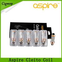 ingrosso aspirare il doppio serbatoio della bobina-Aspire Cleito Coil 0.15 0.2 0.27 0.4ohm SS316L Dual Clapton Bobine di ricambio nucleo centrale per serbatoio Cleito EXO