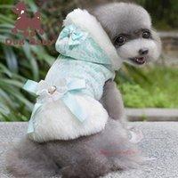 hoodies do animal de estimação do gato venda por atacado-2019 moda filhote de cachorro cão de inverno roupas de algodão quente pet cat jaqueta casaco hoodies camisola pet tamanho grande clothing algodão casaco