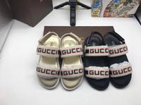 weiße sandalen für kinder großhandel-Kid Sandalen für Jungen Schwarz Weiß Sommer Sport Sandalen Hausschuhe Kid Boy Girl Designer Schuhe Sneakers Sommer Strand Sandalen