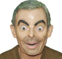 maskeli maskeler yapmak toptan satış-Komik yıldız mr fasulye gerçekçi maske Gülmek yapma yıldız lateks maske komik lateks Mr Fasulye maskesi masquerade parti kostüm