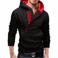 suikastçü inanç siyah ceket toptan satış-Assassins Creed Hoodies Erkekler Moda Marka Fermuar Mektup Baskı Kazak hip hop eşofman Kapüşonlu Ceket streetwear siyah Hoodie