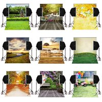 Wholesale camera backdrops for sale - 5x7FT autumn natural cloudy scenic vinyl photography backdrops for wedding photos camera fotografica digital sudio prop photo background