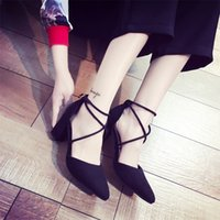 Wholesale d squared shoes for sale - Shoes Mazefeng Fashion Summer Women High heeled Sexy Style Women Pumps Cross Tied Ladies Casual Pumps Pointed Toe Square Heels