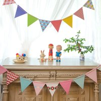 Wholesale polka dot backdrop for sale - Group buy 5sets Small Paper Flags Polka Dot Paper Flag Lovely Kids Birthday Wedding Party Flags Backdrops Decoration Props
