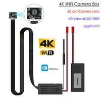 módulo máximo venda por atacado-4K Sem Fio de Segurança Mini Módulo de Câmera Wi-fi Com 60 cm Lente, 4 pcs IR Night Vision LEDs, HD 4K / 2 K / 1080 P, suporte Max 128G