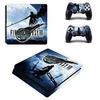 Wholesale playstation slim consoles resale online - Final Fantasy XII Remake PS4 Slim Skin Sticker Decal for PlayStation Console and Controller PS4 Slim Skins Stickers Vinyl
