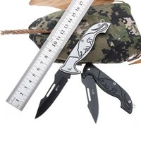 Wholesale keychain rescue tool for sale - Group buy W71 camping tool tactical folding knife stainless steel self defense pocket knife Keychain fruit peeling knife outdoor Rescue tool