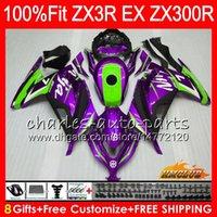 kawasaki ninja zx 14 großhandel-Einspritzung OEM Für KAWASAKI NINJA ZX 300R EX 300 ZX3R 13 14 15 16 27NO. 78 ZX-3R ZX300R lila schwarz EX300 2013 2014 2015 2016 2017 Verkleidungen