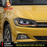 Wholesale vw new polo resale online - Car Styling Head Lamp Case for VW Polo LED Headlight New Polo DRL H7 D2H Hid Option Angel Eye Bi Xenon Beam