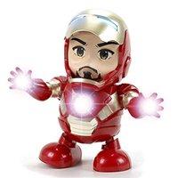 erkekler için kız oyuncakları toptan satış-Komik Dans Demir Adam Marvel Parmaklar Avengers Oyuncaklar ile Müzik ile Çocuk Erkek Kız çocuk Günü Hediyesi