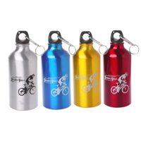 наружные алюминиевые пряжки оптовых-500ml Water Bottle Aluminum Alloy Outdoor Sports Cycling Ultralight With Buckle