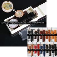 ingrosso cinturino bianco-Migliore versione 36 millimetri di pelle 40mm Bianco Faccetta nera cinturino Men Dress Watch Orologio in pelle casella è facoltativo Drop Shipping