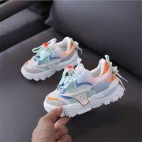 Wholesale boys shoe sizing resale online - 2020 New Autumn Children Shoes Genuine Leather Girls Sneakers Breathable Boy Sport Shoes Fashion Kids Shoe Size