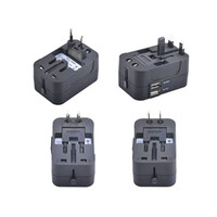 Wholesale universal multi plug adapter online – World Wide V A Universal Travel Adapter US EU UK AU Multi Plug Charger With Dual USB Ports