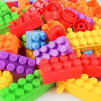 Wholesale block assembly puzzle toy resale online - Children s large grain building blocks puzzle toys Children s early teaching assembly building blocks diy toys