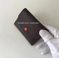 verificador de marca al por mayor-Venta de descuento de calidad bolso de las mujeres bolso monedero de cuero genuino diseñador de la marca damier letras florales damas cuadros