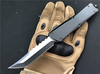Wholesale r tools for sale - Group buy Double action Automatic Survival Pocket knife Hellhound Tanto holes Metal Camping EDC Hand Tools Outdoor Tactical Gift Knives P52Q R