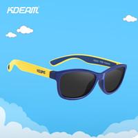Wholesale titanium sport for sale - Group buy KDEAM TPEE Flexible Kids Sports Sunglasses Polarized Glasses for Junior Boys Girls Age KD2021 Y200420